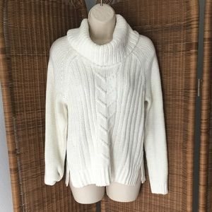 a.n.a Knitted White Cowl Neck Sweater